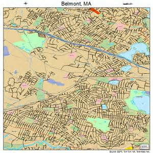 belmont massachusetts map 2505105