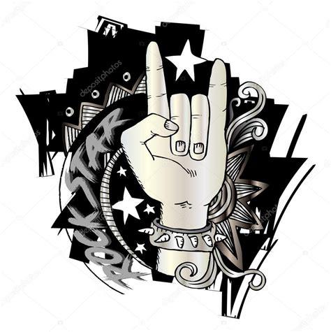 doodle god 2 rock n roll doodle m 227 o m 250 sica do sinal rock n roll stock photo