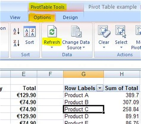 How To Update A Pivot Table by Pivot Tables Part 2 How To Update A Pivot Table In