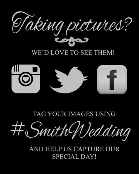 Wedding Hashtag Card Template by 25 Best Ideas About Instagram Wedding Sign On