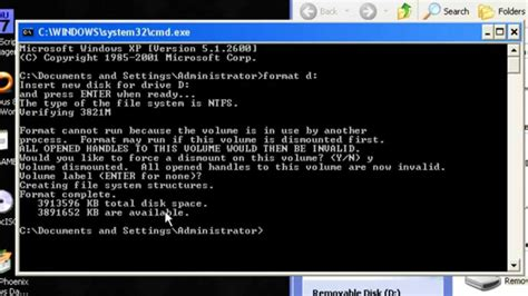format flash disk by cmd how to format usb flash drive in cmd youtube