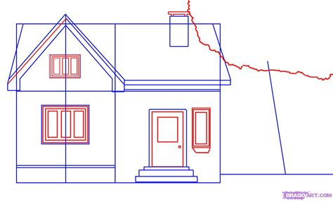 draw a house how to draw a house step by step buildings landmarks