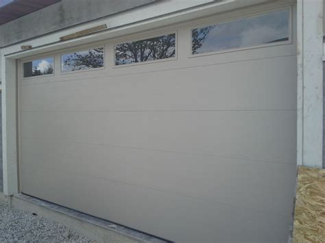 Clear Garage Doors by Northwest Doors T108 Flush Panel Garage Door West