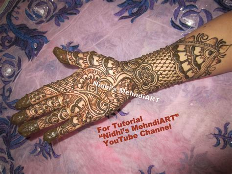 Traditional Mehndi designs for Wedding Marriage Function