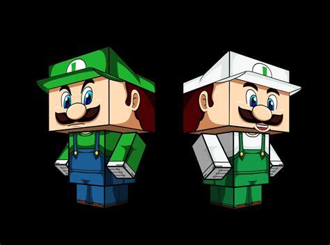 Luigi Papercraft - image gallery luigi cubeecraft