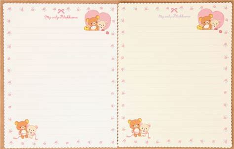 Rillakuma Japan Letter Set rilakkuma flower letter set by san x japan letter