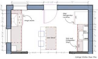Kitchen Floor Plan right wall before the sink and range felt so crowded note the