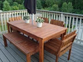 Build Patio Table Diy Wooden Patio Furniture Plans Diy Craft Projects