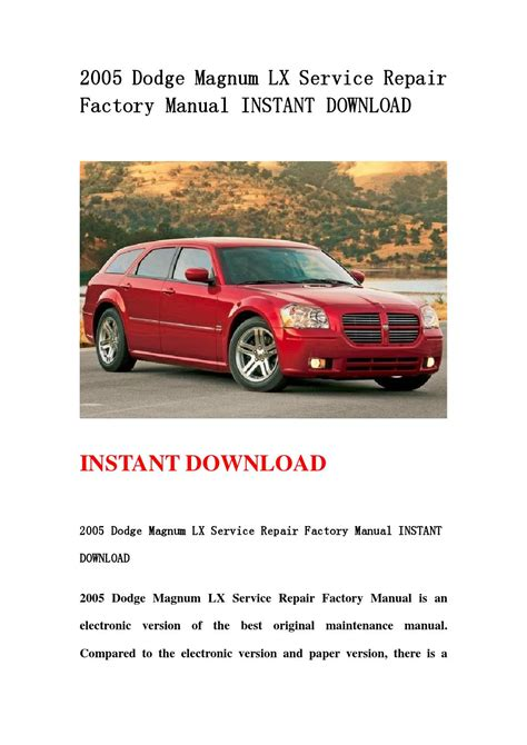 small engine repair manuals free download 2010 dodge caravan on board diagnostic system 2005 dodge magnum lx service repair factory manual instant download by hfhgsefnn issuu