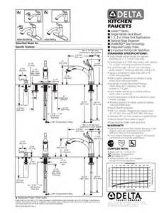 Delta Kitchen Faucet Installation by Delta Faucet Plumbing Product 4353 Sd Dst User S Guide