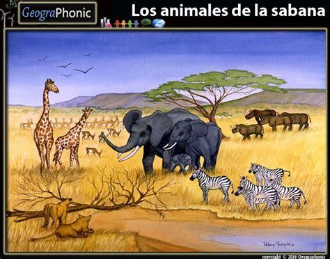 english  spanish los animales de la sabana purposegames