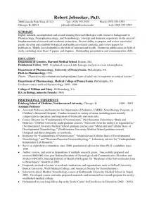 Biology Resume Exles by Biology Assistant Professor Resume Sales Professor Lewesmr