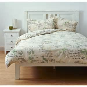 Green Double Duvet Set Wilko Botanical Leaf Duvet Set Double Deal At Wilko Offer