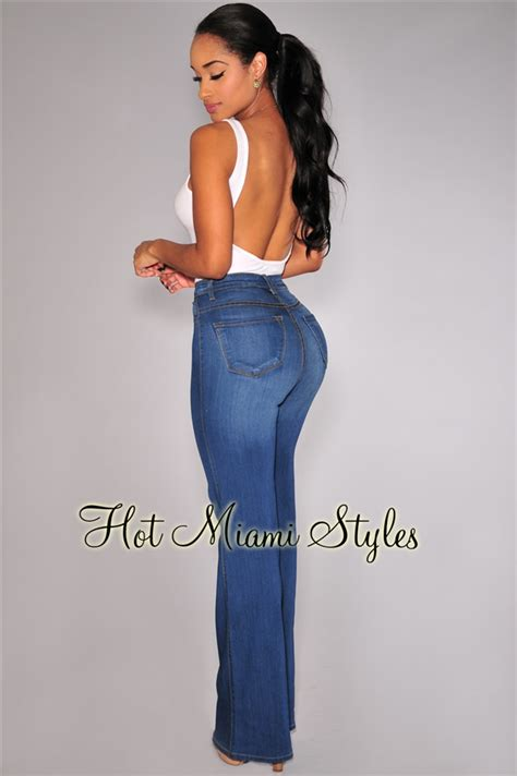 High Waist Wide Leg Denim Shorts denim high waist wide leg