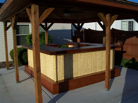 Tiki Bar Construction Diy Plans Tiki Hut Bamboo Bungalow With Tiki Bar Tiki