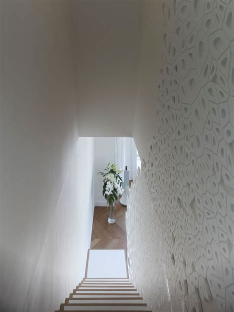 Corian Dicken by Modern Staircase With Sculptural Handrail Dickens