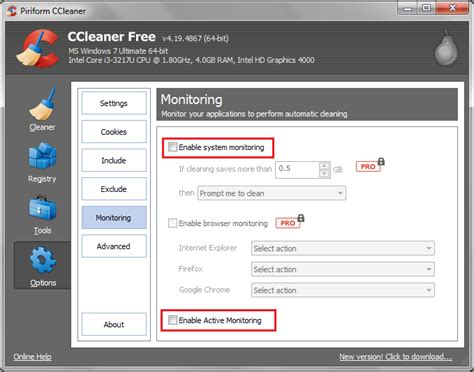 ccleaner active monitoring how to disable ccleaner alert pop up on windows