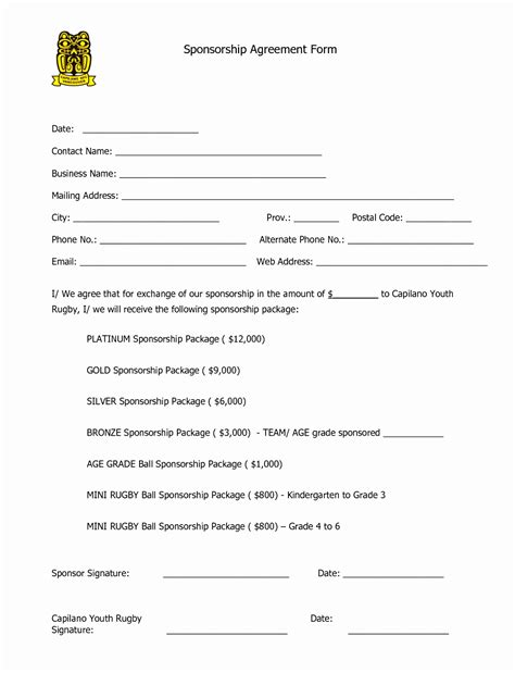 club promoter contract template event sponsorship agreement template town clerk sle