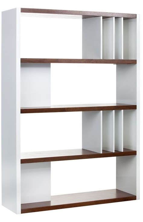 lauderdale high gloss white bookcase 100584 sunpan