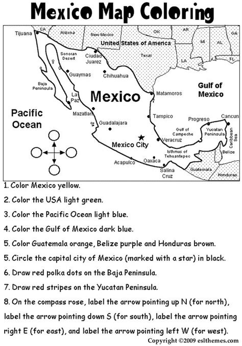 free printable map of mexico mexico map coloring page great for cinco de mayo