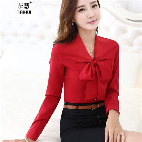 red blouses for women aliexpress com buy women tie front red blouses with bow