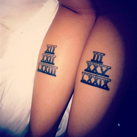 tattoos representing change my numerals representing my
