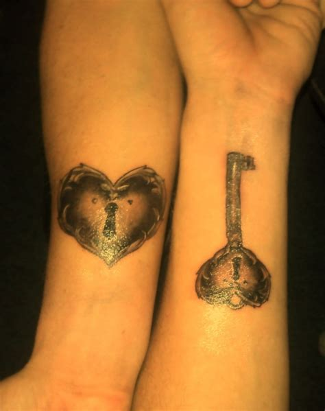 heart lock and key tattoos for couples key tattoos designs ideas and meaning tattoos for you