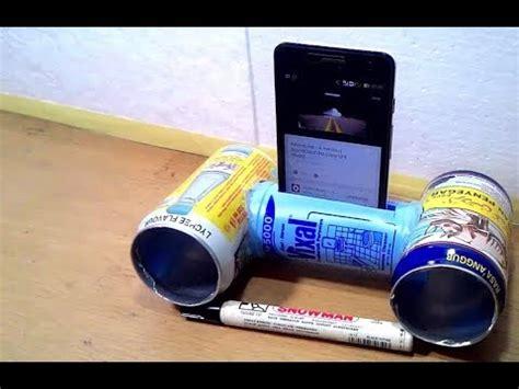 Speaker Kaleng cara membuat speaker kaleng dari botol plastik dan kaleng bekas minuman