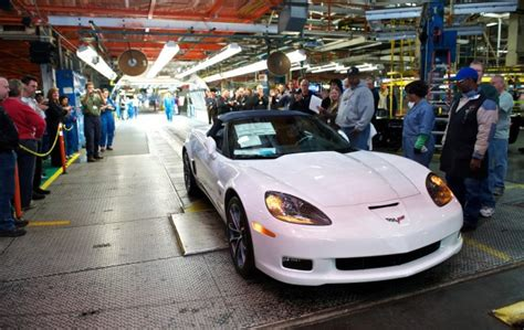 corvette plant bowling green kentucky last c6 chevrolet corvette built at the car s plant in