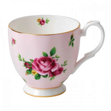Teacup New Country royal albert new country pink vintage teacup saucer boxed and