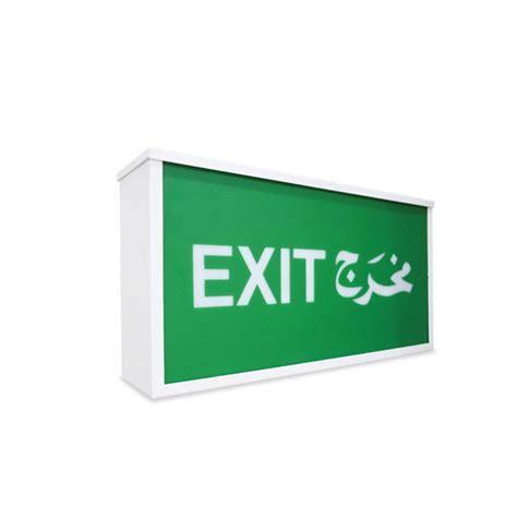 Addressable Emergency Lighting - surface mount addressable exit light