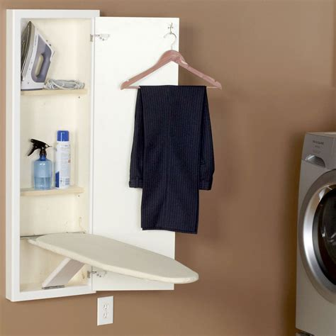 wall ironing board cabinet in wall ironing board and cabinet white in ironing boards
