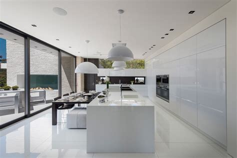 ultra modern kitchen designs laurel way by whipple russell architects overlooks los angeles