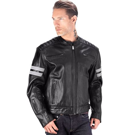 mc jacket viking cycle bloodaxe leather motorcycle jacket for men