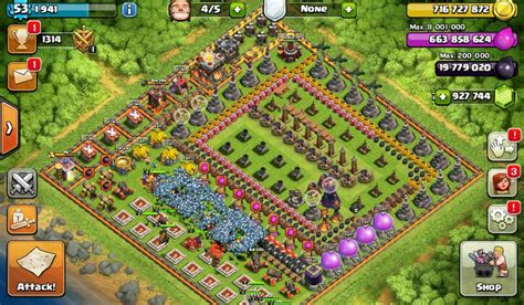 download game coc mod flame wall coc fhx free download