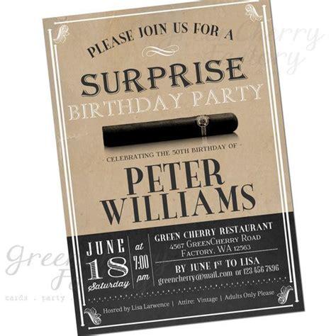 Vintage Cigar  Ee  Birthday Ee   Invitation By Gree Herryfactory On
