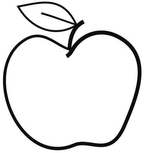 Apple Drawing Outline apple outline drawing clipart best