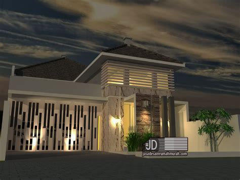 desain eksterior rumah tropis modern jasa desain rumah modern tropis 1 lantai ibu riti di