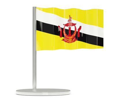 icon design brunei flag pin illustration of flag of brunei