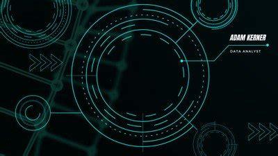 neon green  black tech zoom virtual background
