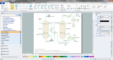 chemical process flow diagram software diagrams software processing pencil and in color