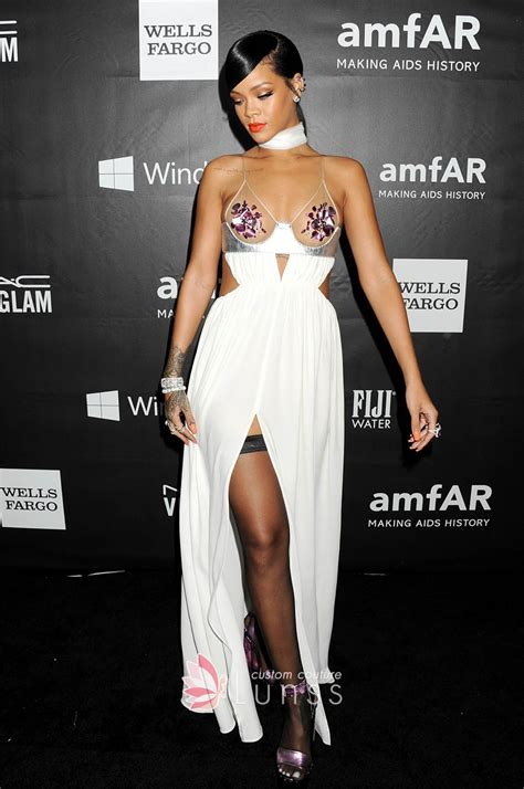 rihanna best dresses rihanna spaghetti floral sequin pasties white dress