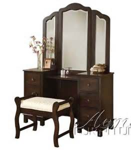 Vanity Table Price Best Prices 3pc Vanity Table Mirror Stool Set In Walnut