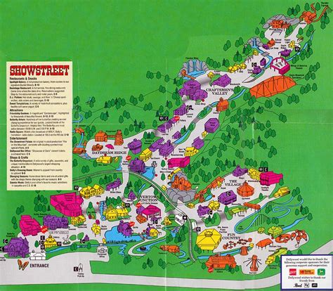 dollywood map theme park brochures dollywood theme park brochures