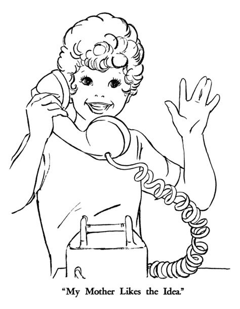 kid talking coloring page i talk in the phone colouring pages coloring home
