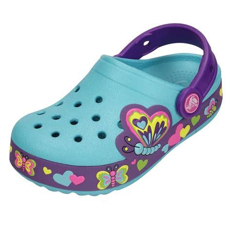 Crocs Butterfly Led crocs crocslights butterfly clog aqua neon purple