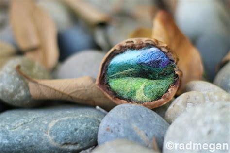 small crafts nestled needle felted landscapes radmegan