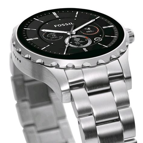 Fossil Rantai Tanggal Silver Cover Black fossil q marshal smartwatch 45mm silver metal band expansys australia