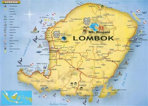 map  lombok indonesia lombok trip planning indonesia