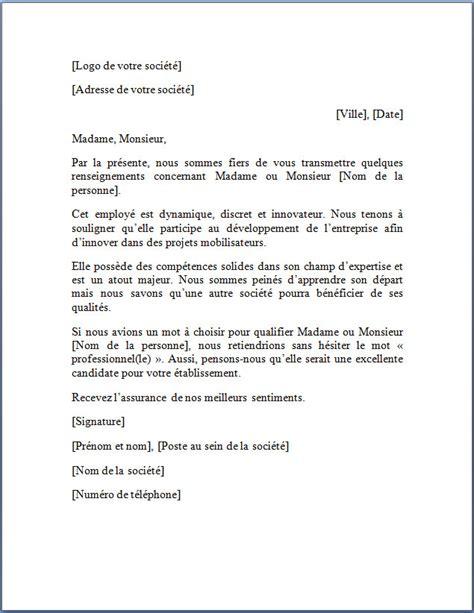 Exemple Lettre De Bienvenue Exemple De Lettre De Recommandation Lettre De Recommandation